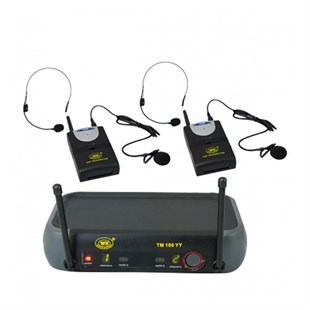 West Sound TM-100YY - Çiftli Yaka ve Headset Uhf Telsiz Kablosuz Mikrofon